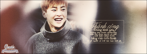 Quotes Xiumin ''Sucesss in Love'' by GenieDesigner
