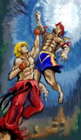 ken vs adon by ryryespi