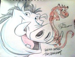 Pumbaa and Mushu team up by tombancroft