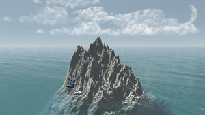Mountain with Water 3D - Bhnro by BuhoneroxD