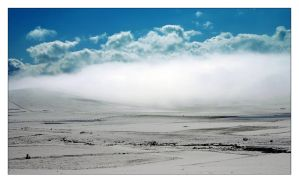 snow, fog and clouds by the-drow