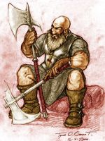 Dwarf Fighter colored by kossork