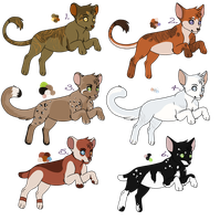 Adoptables - Cats - Group 2 by BettaRae