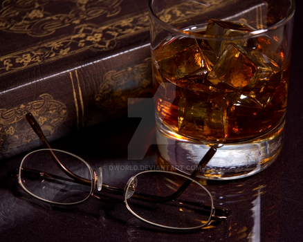 Book, Glasses and a Drink by dworld