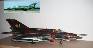 Mig 21MF Fishbed J 5 and Real by SindreAHN