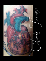 Human Heart Tattoo by Metacharis