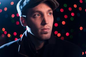 Christmas Lights Self Portrait by mwill8886