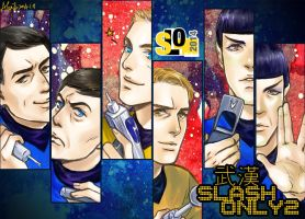 A Star Trek fan art poster for a comic-con by alexzoe