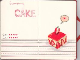 Strawberry Cake by wwei