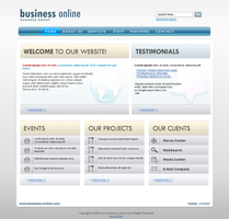 Business Online Layout by gugiserman