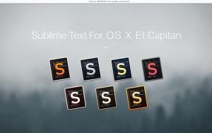 Sublime Text For OS X El Capitan by APPLEICON