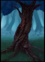 Unhappy tree by murr000
