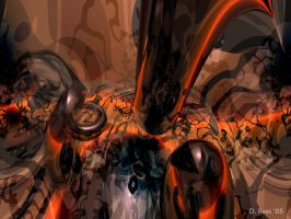 Bryce Abstract in Orange by Zethara