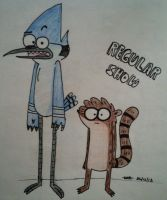 Regular Show- Mordecai and Rigby by RAB-Arts