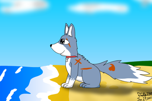 Archer at the Beach by Tails230