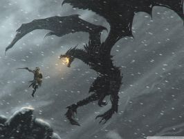 The Dragonborn V.S. Alduin the World Eater by AlduinTheSoulEater