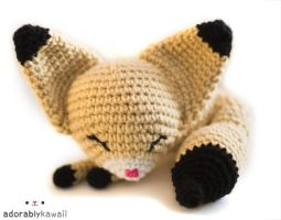 sleepy fennec fox amigurumi 2 by adorablykawaii