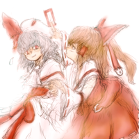 Reimu and Remilia by ReinedBloom