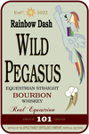 Wild Pegasus Whiskey Label by fancycat2008