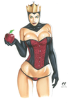 Black Queen 'Eat my Apple' by daikkenaurora