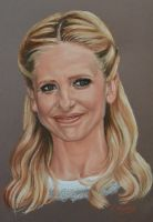 Sarah Michelle Gellar portrait by Andromaque78