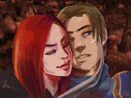 Katarina and Garen 2.0 by SamuraiOctopus