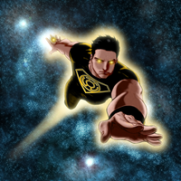 Superboy as a member of the Sinestro Corps by SUPERMAN3D