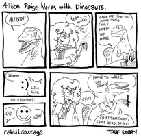 Works with Dinosaurs by rabbitcourage