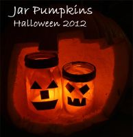 Halloween 2012: Jar Pumpkins by thamuria