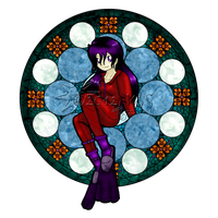 Stained Glass Aqua Mars by kittyocean