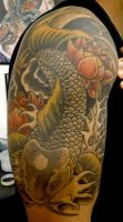 alan barbosa koi tattoo by alanbarbosatattoo