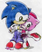 Sonic and Amy Chibi by S-concept