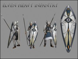 Elven Heavy Infantry by pvblivs