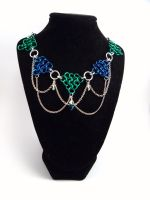 Chainmail Jeweled Necklace / Headdress by SerenityinChains
