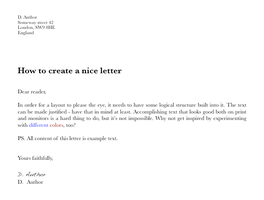 How to create a nice letter by tsarkon