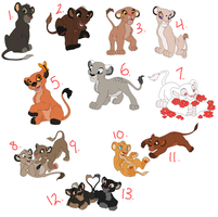Lion Cub Adopts by cosmicForecast