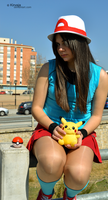 Cosplay Pokemon Trainer Blue 5 by Kirvaja