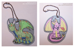 Dragon Keychains 8D by izka197