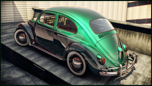 VW Beetle 1966 back side by Yorzua