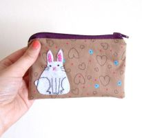 Super awsome bunny pouch by yael360