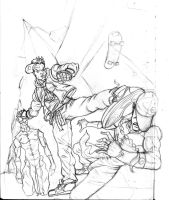sean street fighter rough by GlyphSputnik