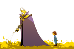 Meeting Asgore by ylee0730