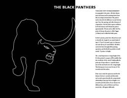 The Black Typographic Panthers by theNawaz