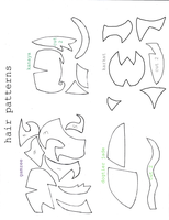 homestuck hair patterns by b00ts