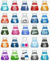 Test-Tube Social Icons full pack by NatalyBirch