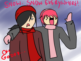 Snow everywhere! by kitty4699