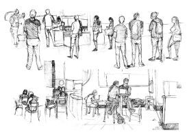 Cafe Sketches Compiled 1 by A-Quiet-Wind