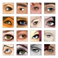 Vexelled: Eyes Collection by ChewedKandi
