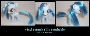 Filly Vinyl Scratch Brushable by Gryphyn-Bloodheart
