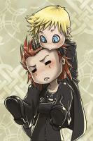Axel and Roxas by Zyephens-Insanity